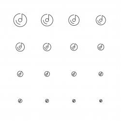 Musical Disc Icons - Multi Scale Line Series