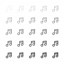 Musical Note Icons - Multi Line Series