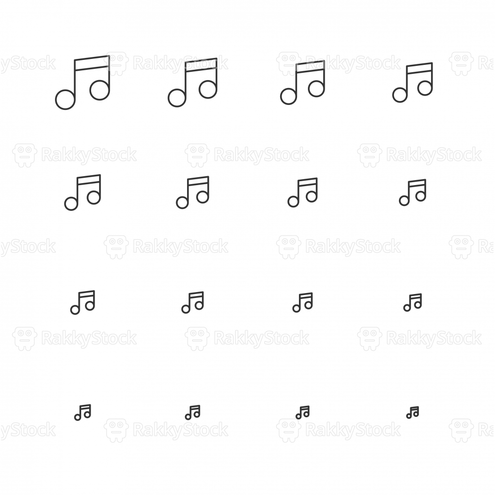 Musical Note Icons - Multi Scale Line Series