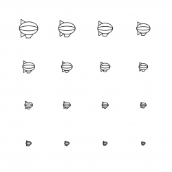 Airship Icons - Multi Scale Line Series