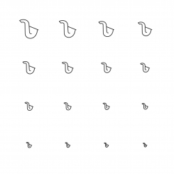 Saxophone Icons - Multi Scale Line Series