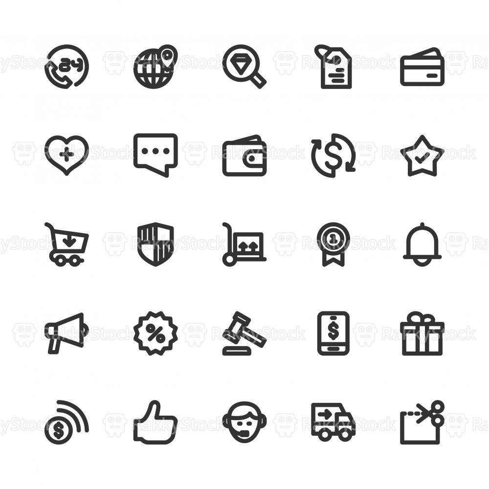 E-Commerce Icons - Bold Line Series