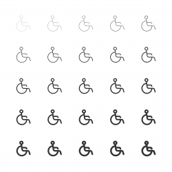 Handicap Sign Icons - Multi Line Series