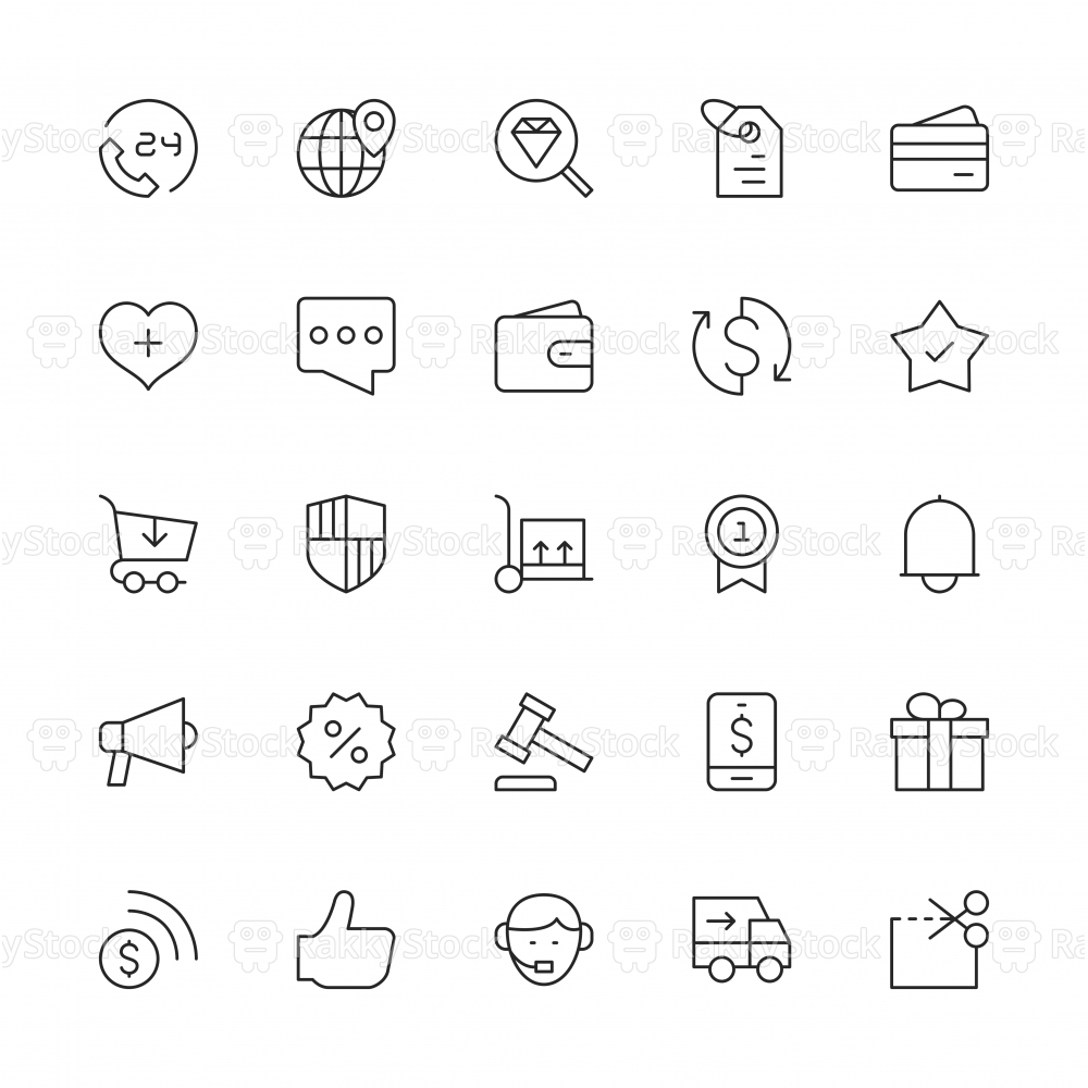 E-Commerce Icons - Thin Line Series