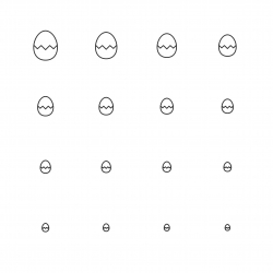 Egg Icons - Multi Scale Line Series