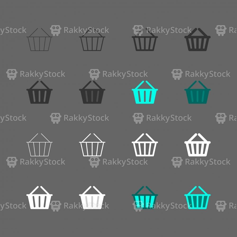 Basket Icons - Multi Series