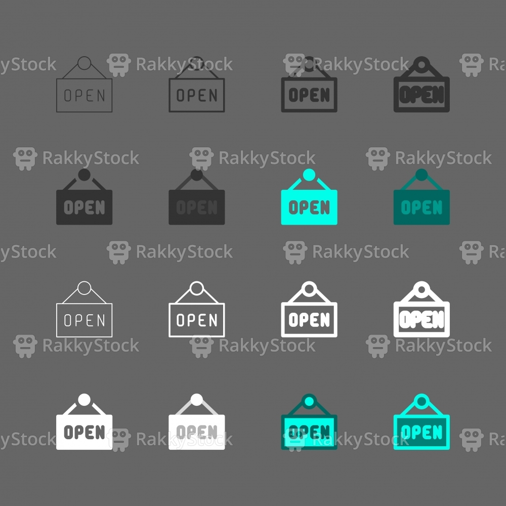 Open Sign Icons - Multi Series