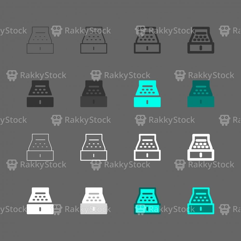 Cash Register Icons - Multi Series