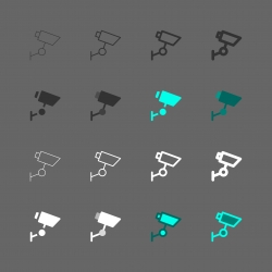 CCTV Security Digital Camera Icons - Multi Series