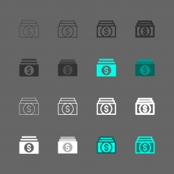 Dollars Banknote Icons - Multi Series