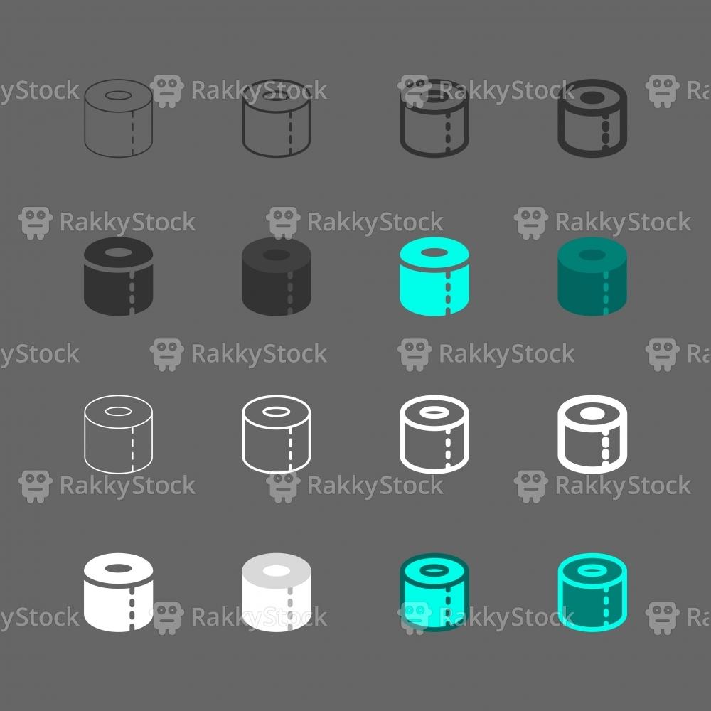 Toilet Paper Icons - Multi Series