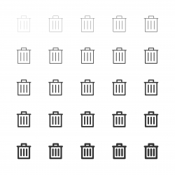 Garbage Can Icons - Multi Line Series