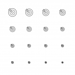 Target Icons - Multi Scale Line Series