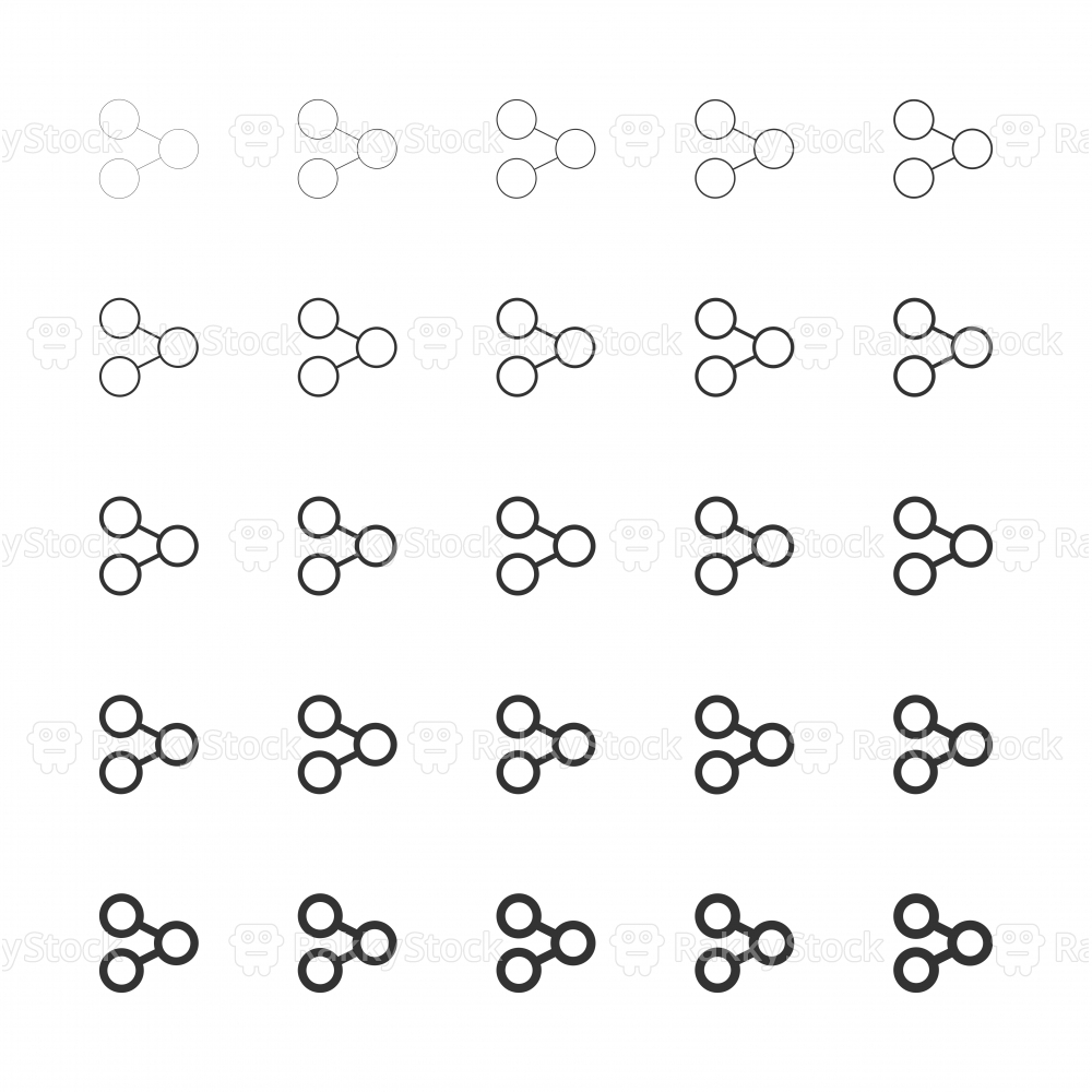 Sharing Icons - Multi Line Series
