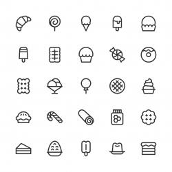 Dessert Icons - Line Series
