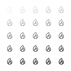 Flame Icons - Multi Line Series