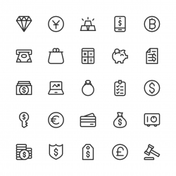 Financial Item Icons - Line Series