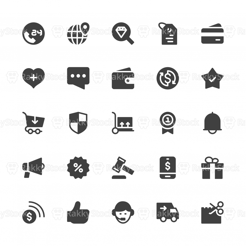 E-Commerce Icons - Gray Series