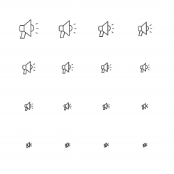 Megaphone Icons - Multi Scale Line Series