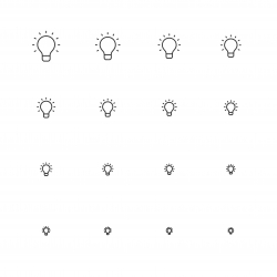 Light Bulb Icons - Multi Scale Line Series