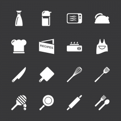 Cooking Icons - White Series | EPS10