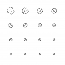 Gear Icons - Multi Scale Line Series