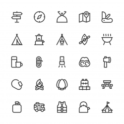 Camping Icons - Line Series