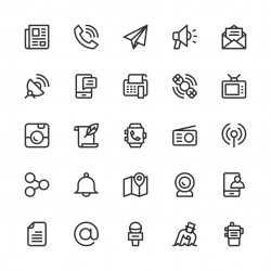 Communication Icons - Line Series