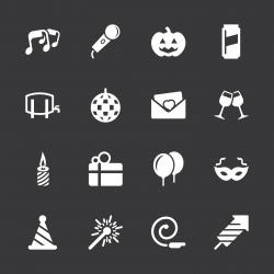 Celebration Icons - White Series   EPS10