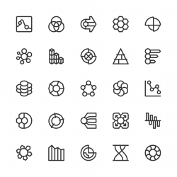 Business Infographic Icons - Line Series