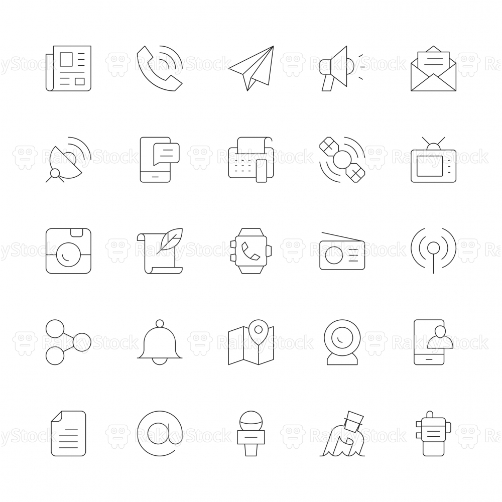 Communication Icons - Ultra Thin Line Series