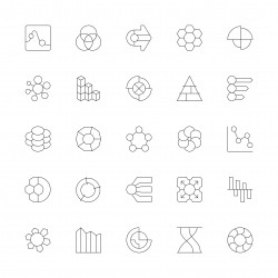Business Infographic Icons - Ultra Thin Line Series