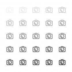 DSLR Camera Icons - Multi Line Series
