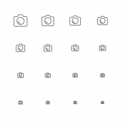 DSLR Camera Icons - Multi Scale Line Series