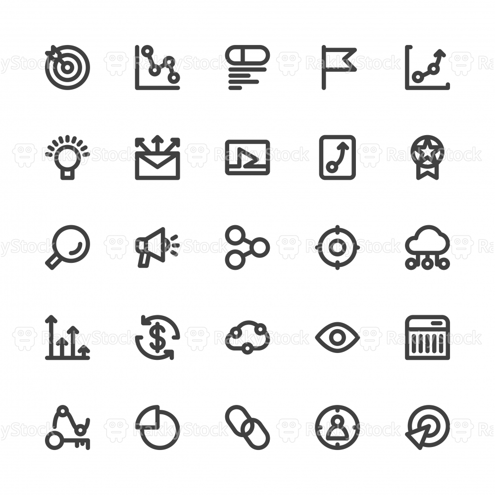 Search Engine Optimization Icons - Bold Line Series