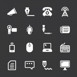 Communication Icons - White Series | EPS10