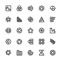 Business Infographic Icons - Bold Line Series