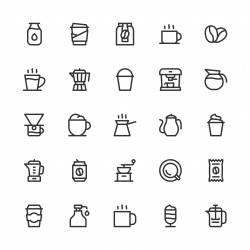 Coffee Icons - Line Series