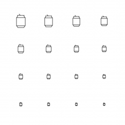 Drink Can Icons - Multi Scale Line Series