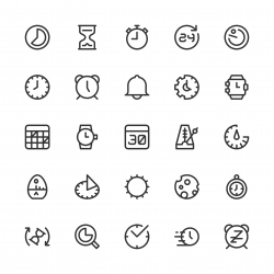 Time Icons - Line Series