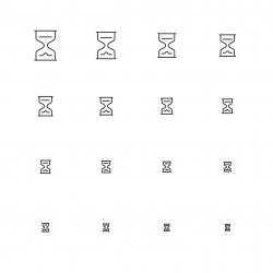 Hourglass - Multi Scale Line Series