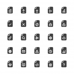 File Icons - Gray Series