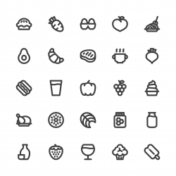 Food and Drink Icons Set 2 - Bold Line Series