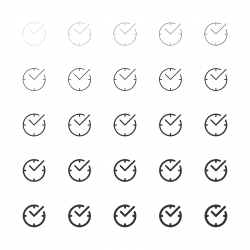 Check Mark Time Icons - Multi Line Series