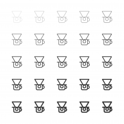 Coffee Drip Icons - Multi Line Series