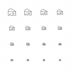 Cheese Icons - Multi Scale Line Series