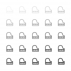 Piano Icons - Multi Line Series