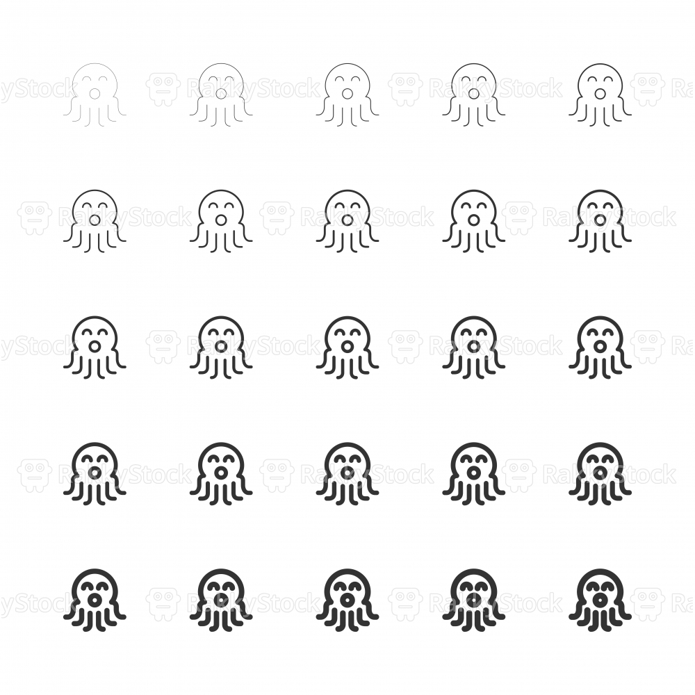 Octopus Icons - Multi Line Serie