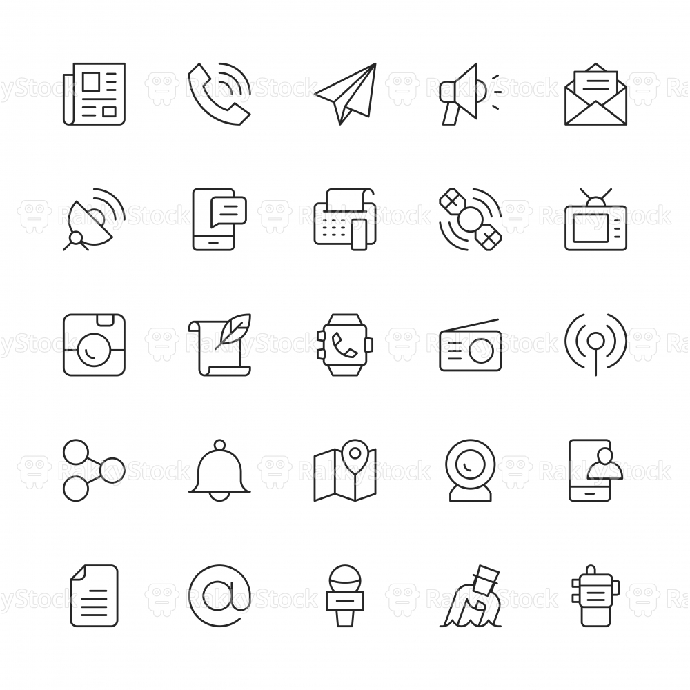 Communication Icons - Thin Line Series