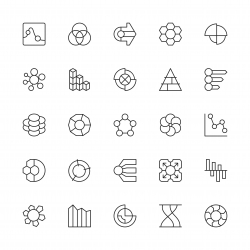 Business Infographic Icons - Thin Line Series